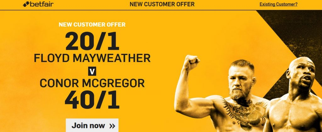 Mayweather McGregor New Customers Offer