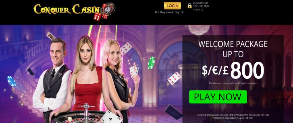 Conquer Casino New Customers Offer