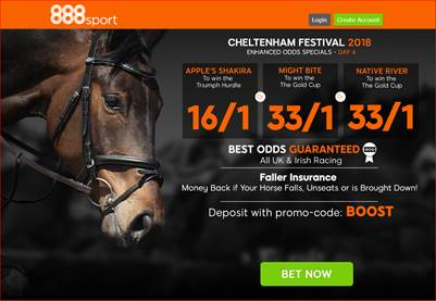 888Sport Gold Cup New Customer Offers