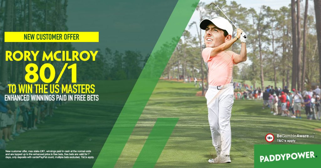 Masters 2018 Free Bets
