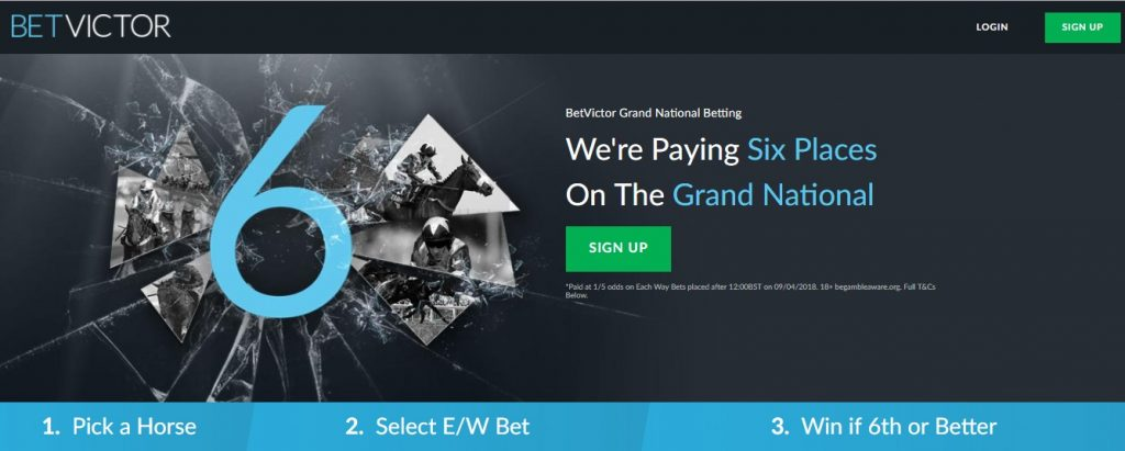 Betvictor 6 Each Way Places On Grand National
