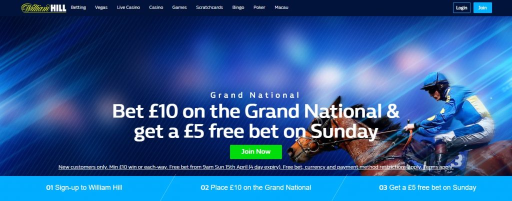 William Hill Grand National Free Bet