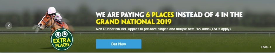 Paddy Power 6 Each Way Places on 2019 Grand National